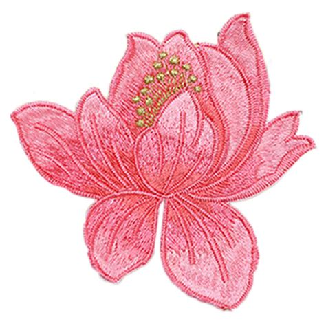 embroidery applique 1 pcs lotus flower embroidery patches iron on applique sew