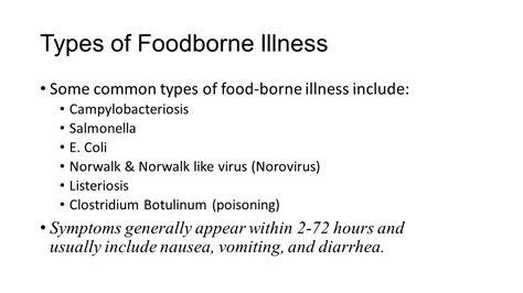 illness symptoms e food borne illness symptoms food ideas