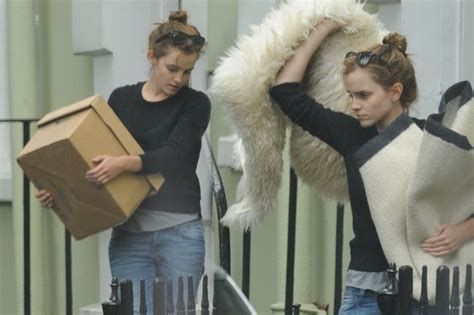 emma watson house address emma watson gets her hands dirty lifting boxes as she