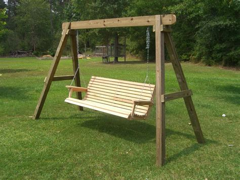 outdoor wooden swing plans how to build a freestanding