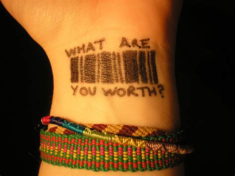 self worth tattoos what are you worth
