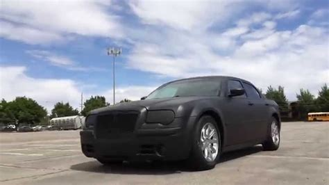 chrysler 300c black matte black plasti dipped chrysler 300c youtube