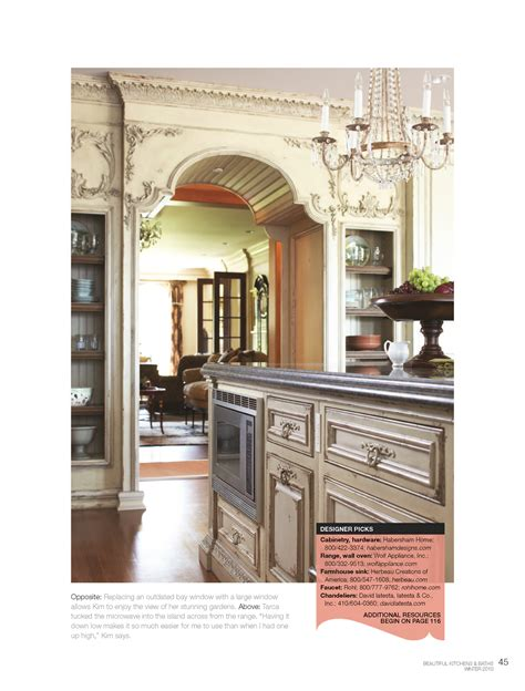 beautiful kitchens and baths magazine habersham custom kitchen cabinetry habersham home