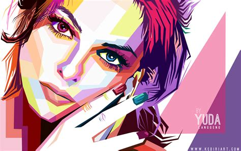 tutorial wpap indonesia beautiful woman in wpap by kediri on deviantart
