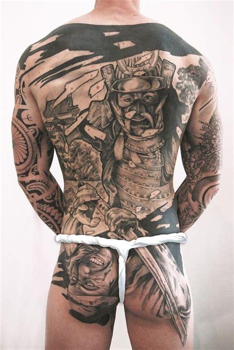 tattoo back piece japanese back piece tattoo samurai landscape tattoo artist