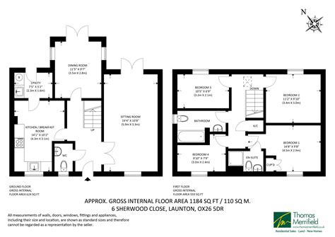 4 Bedroom House Plans 1 Story sherwood close launton ox26 ref 30286 bicester