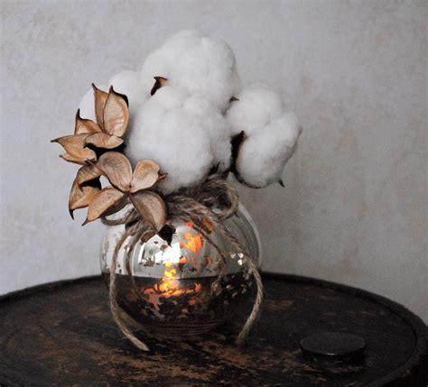 mercury glass and cotton wedding centerpiece onewed com