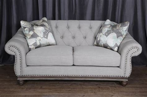 tufted nailhead sofa loveseat greystone by magnussen home home decor