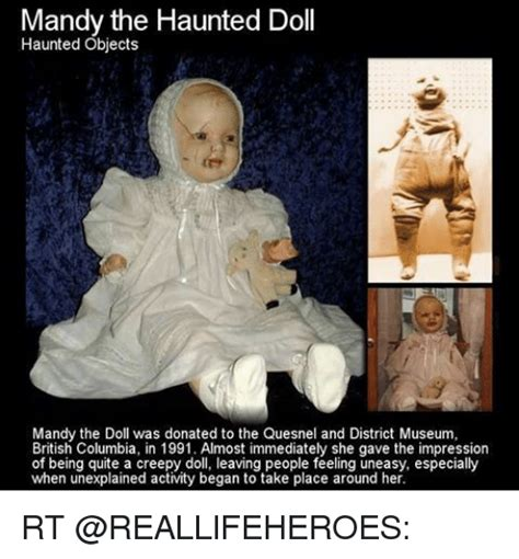 haunted doll quesnel mandy the haunted doll haunted objects mandy the doll was