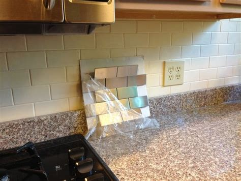 experiences with stainless steel subway tile backsplash