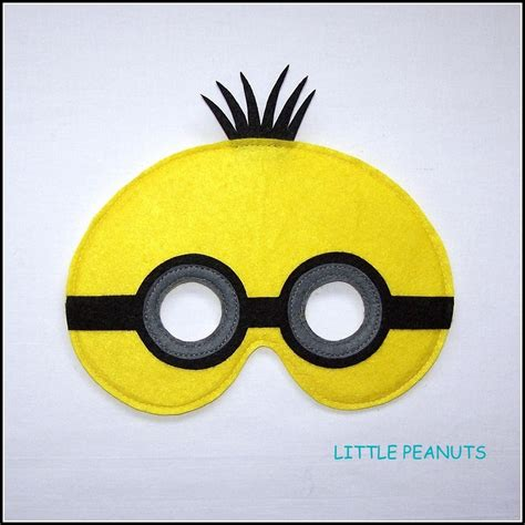 minion mask template felt minion dress up mask felt