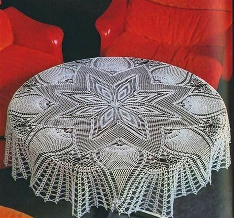 pattern crochet tablecloth large star and pineapple tablecloth crochet pattern