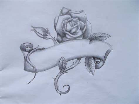 tattoo idea rose banner by deliciousratstail on deviantart