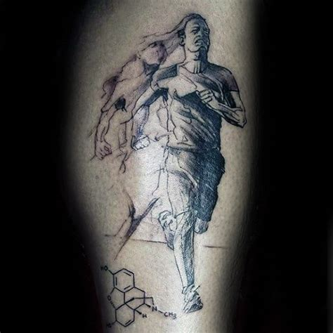40 running tattoos for men ink design ideas in motion