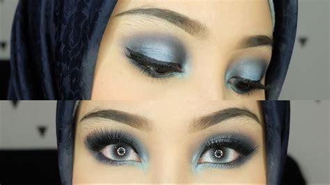 Eyeshadow Biru intens blue smokey eyeshadow biru makeup irna