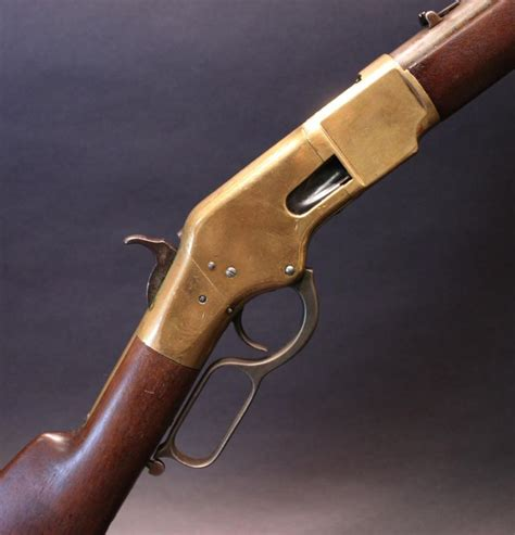 Pin Peniti 44 Mm winchester 1866 third model saddle ring carbine 44 henry rf 508 mm barrel sted with the two