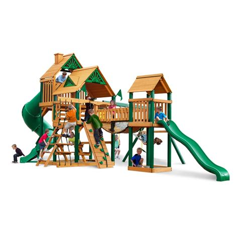 swing set playset shop gorilla playsets treasure trove wood playset with