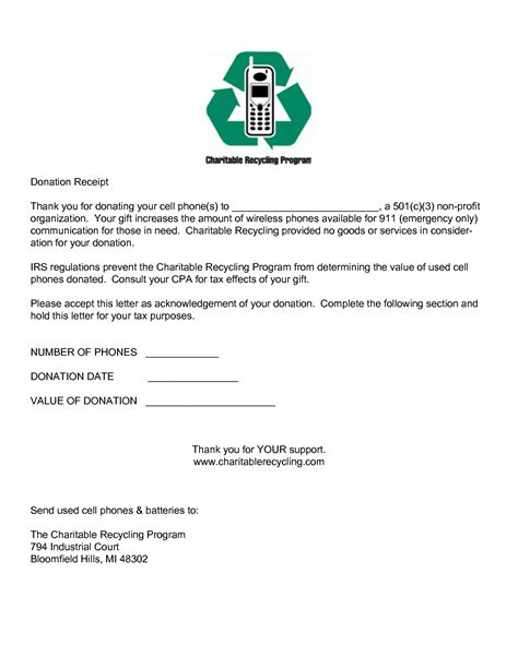 Gift In Kind Acknowledgement Letter Sle 501c3 Non Profit Donation Receipt Letter Template