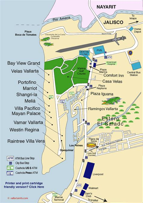 vallarta map of mexico vallarta marina map baby moon