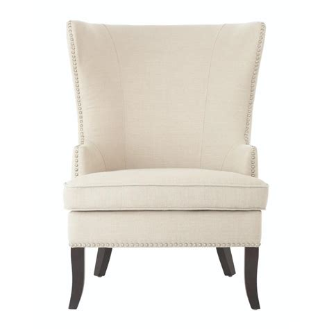 home decorators accent chairs home decorators collection more linen oatmeal wing back
