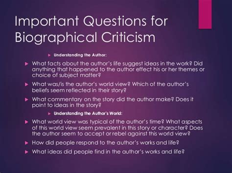biography critique exle formalism and biographical criticism