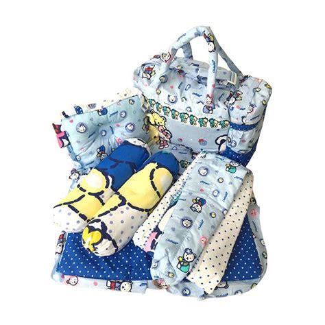 Bantal Guling Bayi Baby Hai jual eigia 4 in 1 tas bantal guling baby gendongan alas tidur perlak bayi polkadot