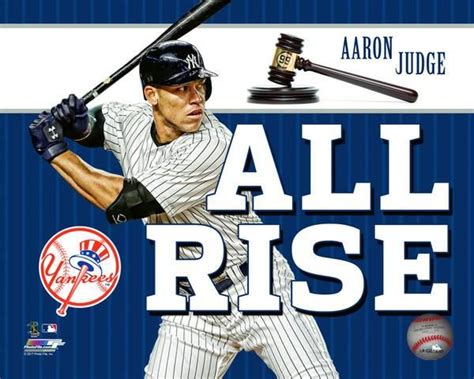 all rise aaron judge new york yankees licensed all rise 8x10 photo
