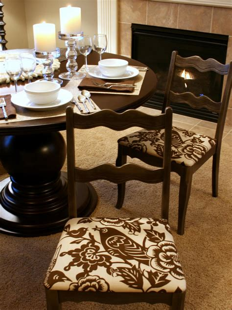 recovering dining room chair seats how to re cover a dining room chair hgtv