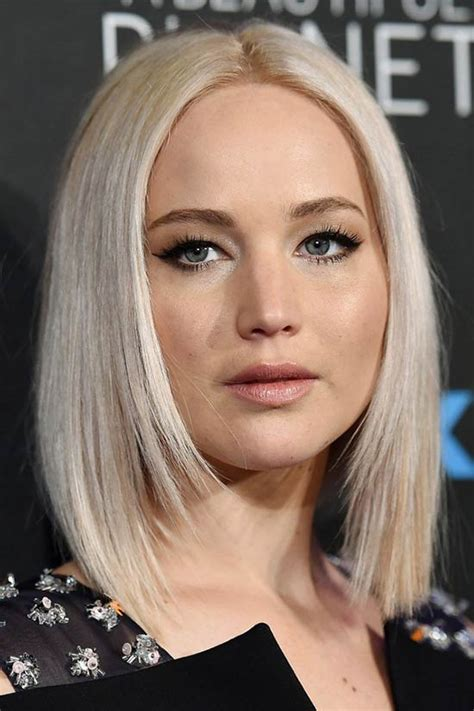 is jennifer lawrence hair cut above ears or just tucked behind 26 gorgeous layered bob hairstyles to inspire you
