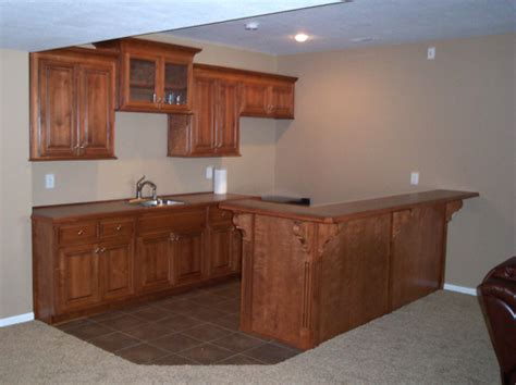 basement kitchen and snack bar kc wood