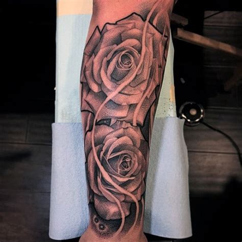 rose sleeve tattoo for men 100 forearm sleeve designs for manly ink ideas