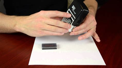 How To Get Ink by Replacing Your 2000 Plus Self Inking Date St Ink Pad