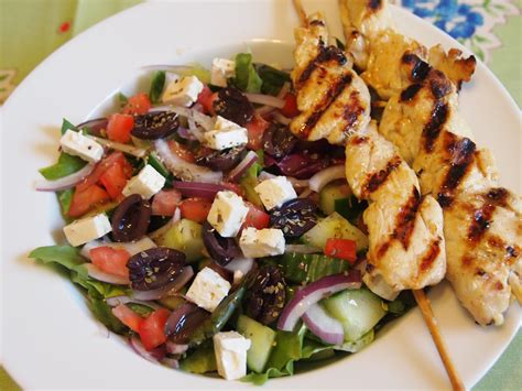 salad recipe greek salad recipe with grilled lemon chicken culicurious