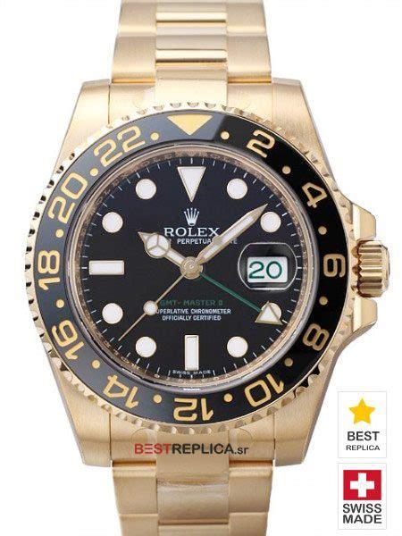 Jam Replika Rolex Gmt Master Ll All Gold Steel Black Swiss Eta 11 rolex gmt master 2 batman replica