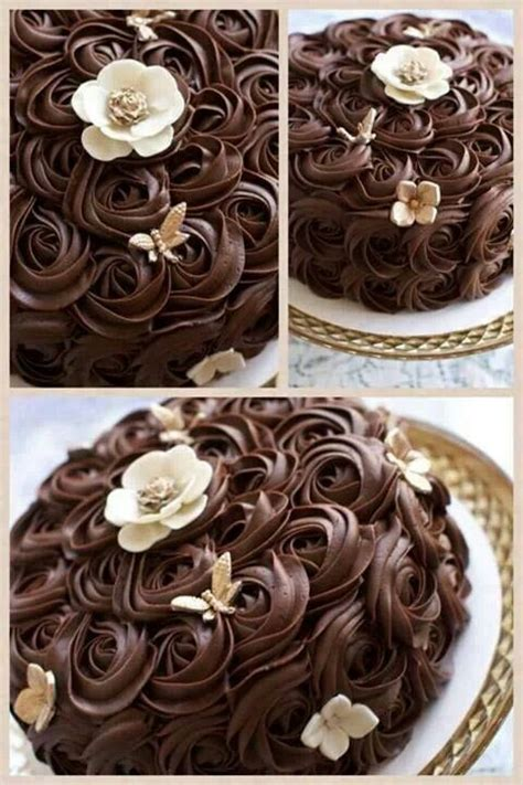 Decorating With Ganache by Beautiful Ganache Rosettes I Really This Way Of