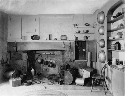 Fireplace With Tv Inside by American Colonial Era Fireplace Photograph By Everett