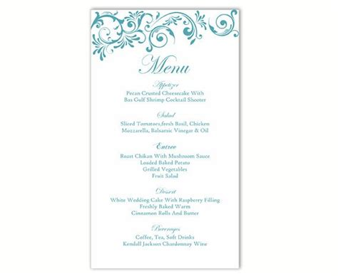 free menu card template menu template word free elsevier social sciences