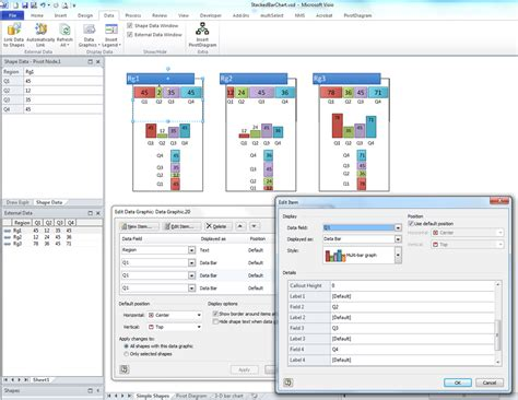 define visio using visio stacked bar charts bvisual for