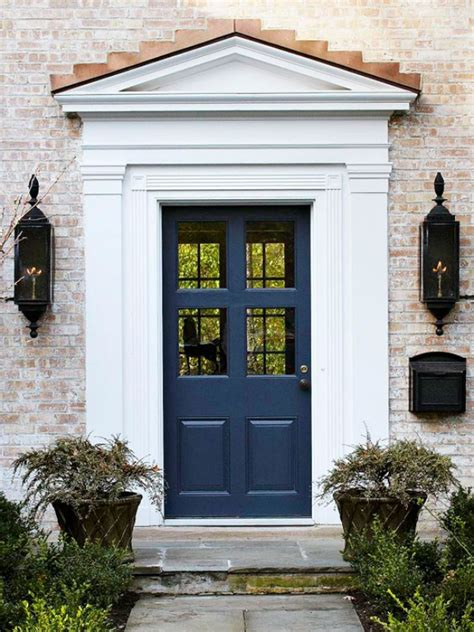 Navy Blue Door | navy blue front door decoist