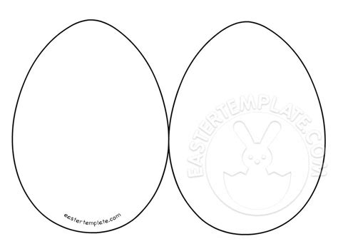 Rabbit Easter Card Templates by Easter Egg Card Templates Easter Template