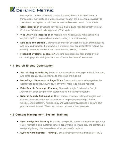 Website Design Rfp Template System Integration Contract Template