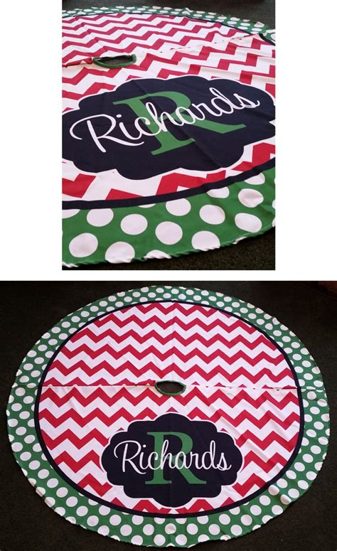 christmas tree skirt personalized monogrammed christmas tree