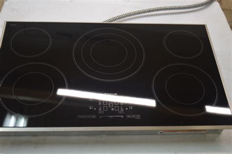 Ebay Cooktops jenn air jec4536bs 36 quot black stainless electric cooktop 6374 ebay