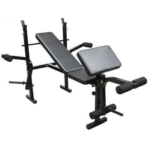 gym bench equipment weights bench multi home gym equipment dumbell workout abs leg bar preacher curl ebay
