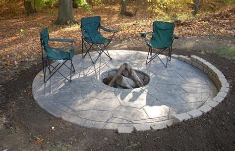 improbable concrete patio pit ideas garden landscape