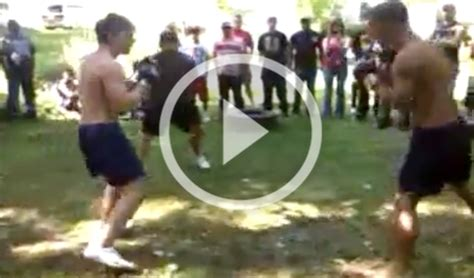 Backyard Fight college wrestler vs trained fighter in backyard mma fight