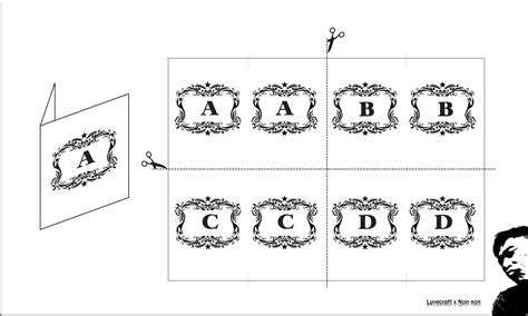 luvecraft x non non wedding table name card template