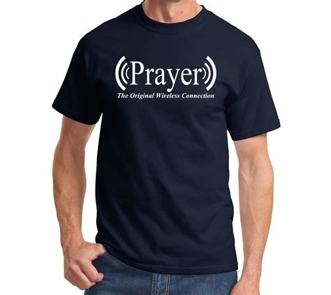 Tshirt Kaos Trust No One prayer original wireless connection prayer t shirt