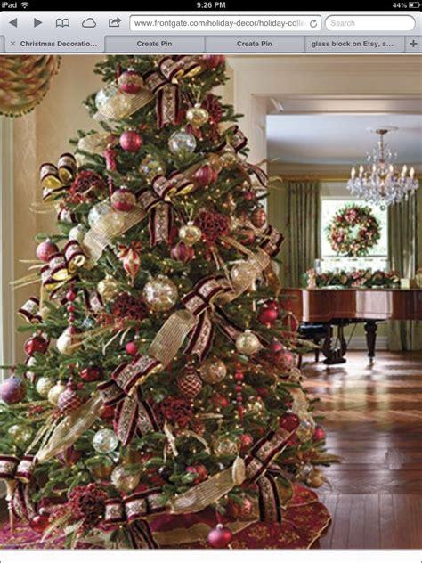 xmas gold decor burgundy and gold christmas tree christmas decor