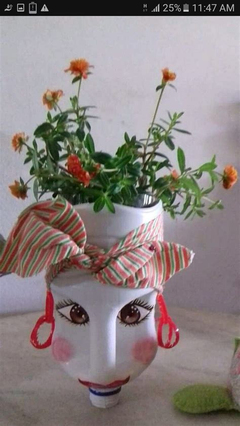 pin de margarita chavarria en masetas de galon macetas  botellas macetas decoradas